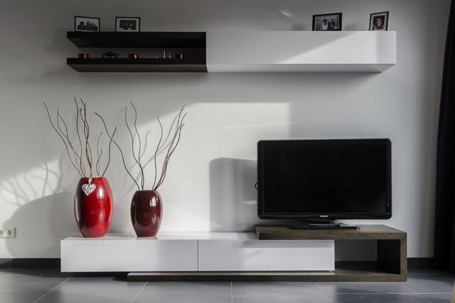 Een strak modern interieur