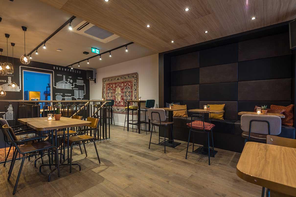 Interieurwerken - speciaalbier café Barbier in Gouda